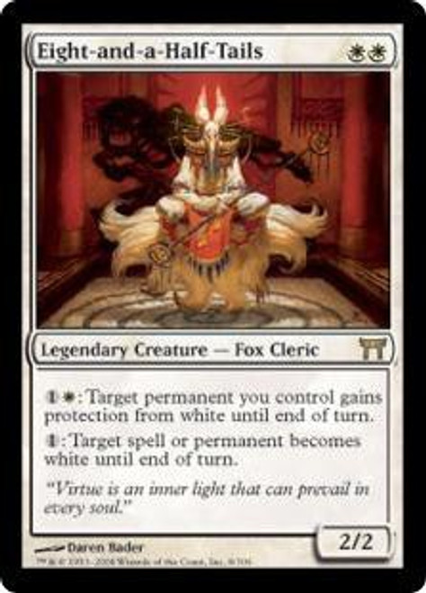 MtG Champions of Kamigawa Rare Foil Eight-and-a-Half-Tails #8 [Played]