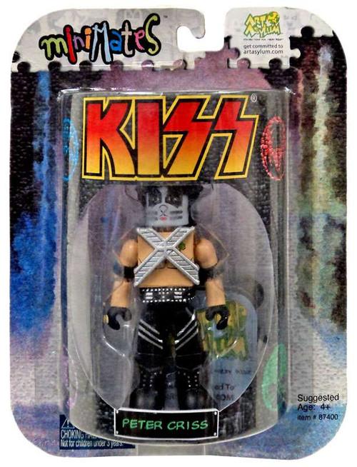 Kiss Art Asylum MiniMates Peter Criss Minifigure [Package Shows Wear from storage]
