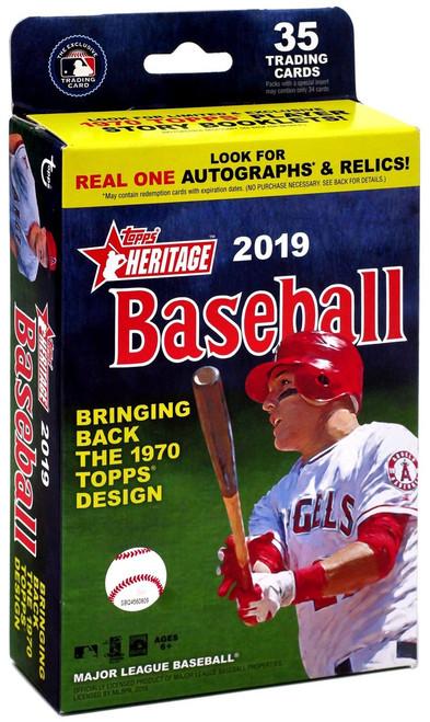 MLB Topps 2019 Heritage Baseball Trading Card HANGER Box [35 Cards]