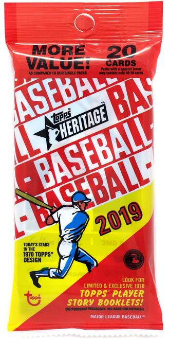 MLB Topps 2019 Heritage Baseball Trading Card VALUE Pack [20 Cards]