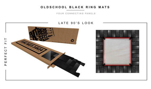 Wrestling Old School Ring Mat [BLACK]