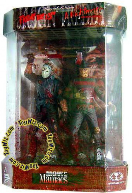 McFarlane Toys Friday the 13th A Nightmare on Elm Street Movie Maniacs Series 7 Jason Voorhees & Freddy Krueger Action Figure 2-Pack