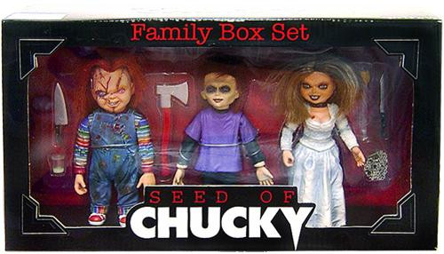 NECA Child's Play Cult Classics Seed of Chucky Action FIgure 3-Pack