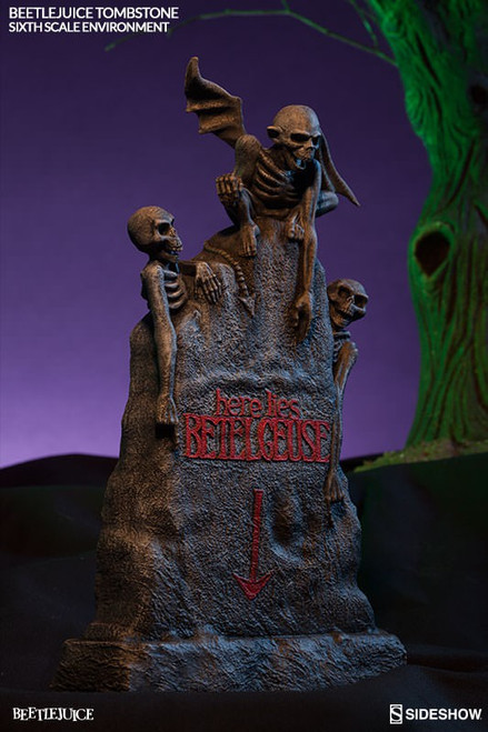 Beetlejuice Tombstone Collectible Figure Environment