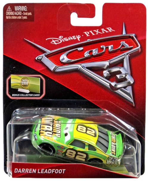 Disney / Pixar Cars Cars 3 Darren Leadfoot Diecast Car [Bonus Collector Card]