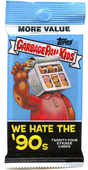 Garbage Pail Kids Topps 2019 We Hate the '90s Trading Card Sticker RETAIL VALUE Pack [24 Cards!]
