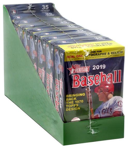 MLB Topps 2019 Heritage Baseball Trading Card HANGER Tray [8 Decks]