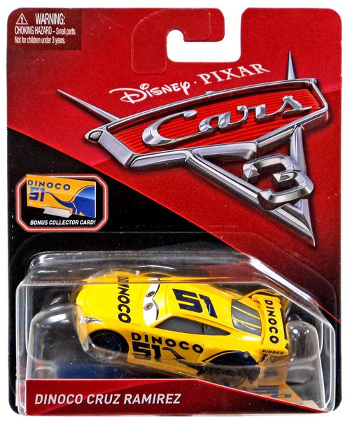 Disney / Pixar Cars Cars 3 Dinoco Cruz Ramirez Diecast Car [Bonus Collector Card]