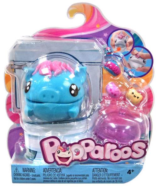 Pooparoos Pet & Food Blue Pig Figure Pack
