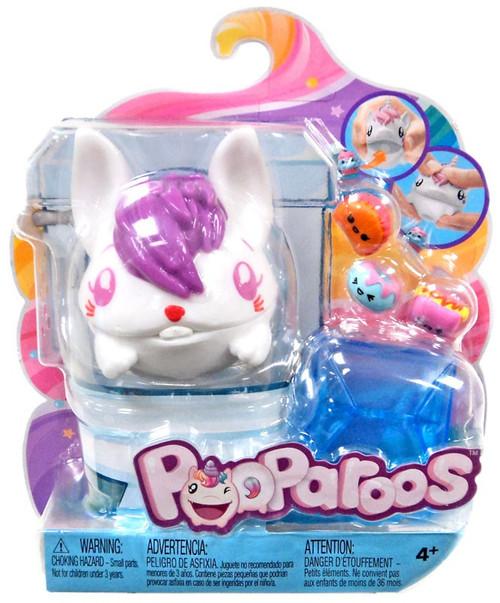 Pooparoos Pet & Food White Rabbit Figure Pack