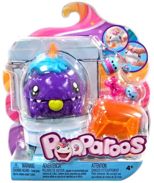 Pooparoos Pet & Food Purple Unicorn Figure Pack