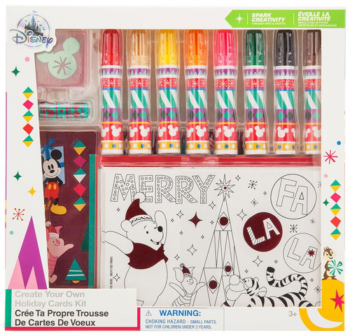 Disney Holiday Cheer Decorate-Your-Own Card Exclusive Art Kit