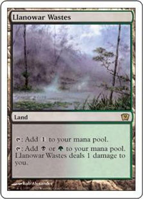 MtG 9th Edition Rare Foil Llanowar Wastes #322 [Played]