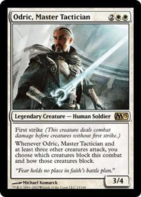 MtG 2013 Core Set Rare Foil Odric, Master Tactician #23 [Played]