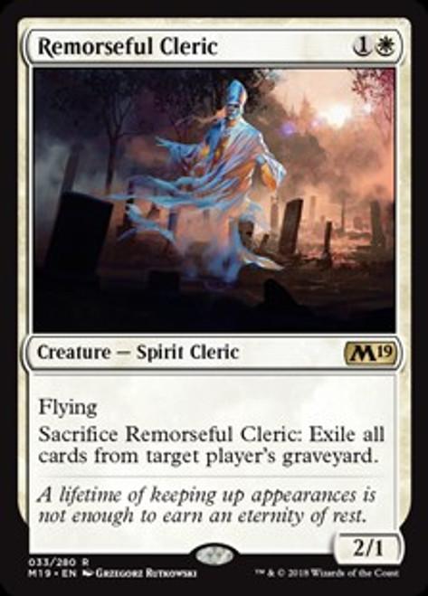 MtG 2019 Core Set Rare Foil Remorseful Cleric #33