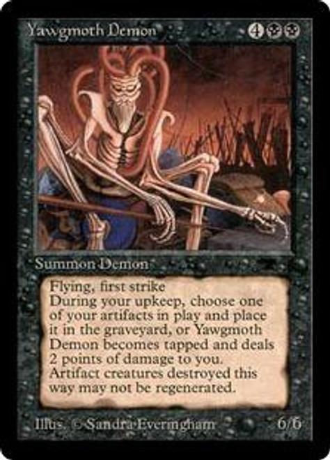 MtG Antiquities Rare Yawgmoth Demon