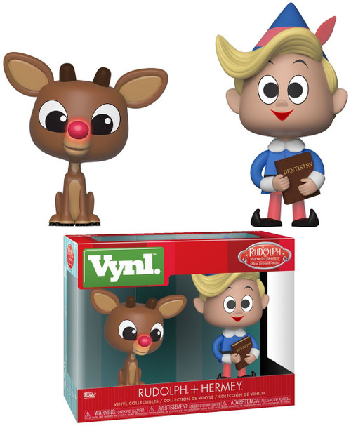 Funko Rudolph the Red-Nosed Reindeer Vynl. Rudolph & Hermey Vinyl Figure 2-Pack