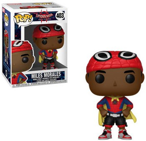 Funko Spider-Man Into the Spider-Verse POP! Marvel Miles Morales Vinyl Bobble Head #403 [Caped]