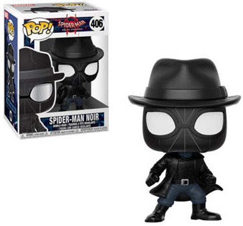 Funko Spider-Man Into the Spider-Verse POP! Marvel Spider-Man Noir Vinyl Bobble Head #406