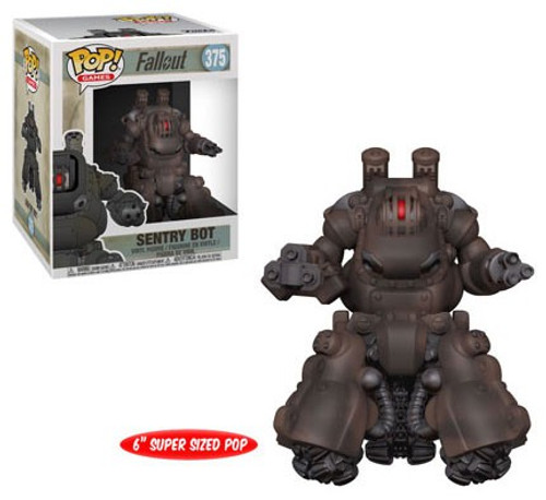 Funko Fallout POP! Games Sentry Bot 6-Inch Vinyl Figure #375 [Super-Sized]