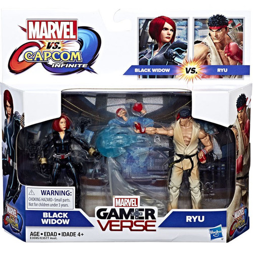 Marvel Gamerverse Black Widow & Ryu Action Figure 2-Pack