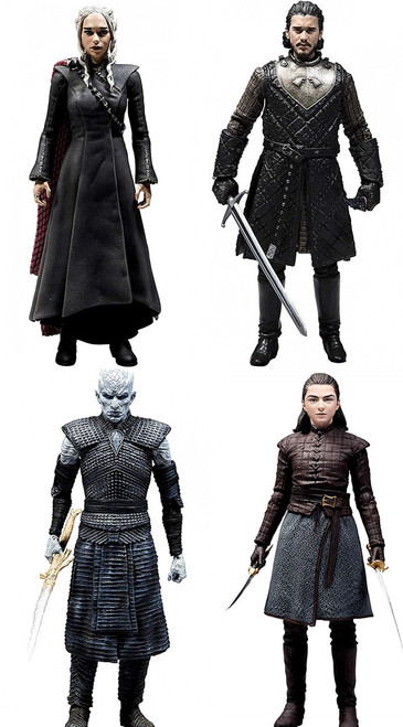McFarlane Toys Game of Thrones Daenerys, Snow, Night King & Arya Stark Set of 4 Action Figures