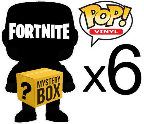 Funko FORTNITE MYSTERY BOX LOT of 6 Funko POP! Vinyl Figures [Completely RANDOM, No Duplicates Per Box!]