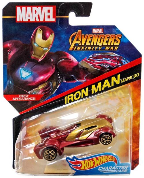 Hot Wheels Avengers Infinity War Character Cars Iron Man Mk 50 Die-Cast Car