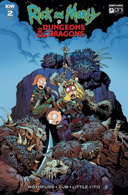 IDW Rick & Morty Vs. Dungeons & Dragons #2 Comic Book [Fowler Variant Cover]