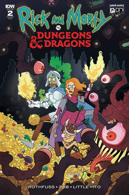 IDW Rick & Morty Vs. Dungeons & Dragons #2 Comic Book [Scott Variant Cover]