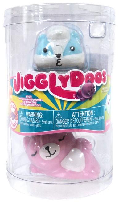 JigglyDoos Series 3 Blue Skunk & Pink Cat Squeeze Toy 2-Pack
