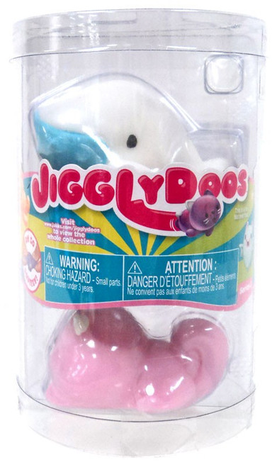 JigglyDoos Series 3 White Whale & Pink Beaver Squeeze Toy 2-Pack