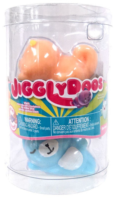 JigglyDoos Series 3 Orange Beaver & Blue Cat Squeeze Toy 2-Pack