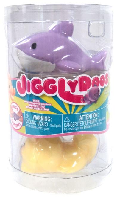 JigglyDoos Series 3 Purple Shark & Yellow Beaver Squeeze Toy 2-Pack