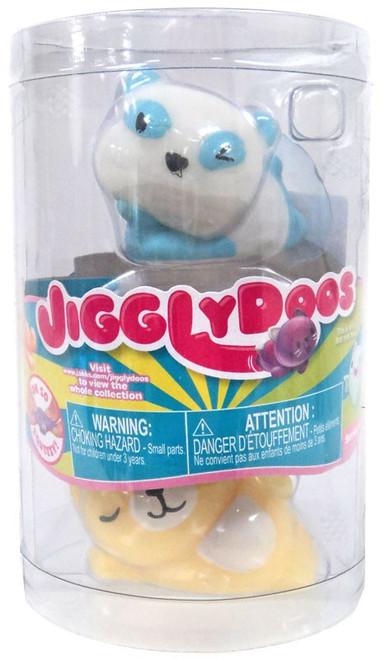 JigglyDoos Series 3 Blue Panda & Yellow Cat Squeeze Toy 2-Pack