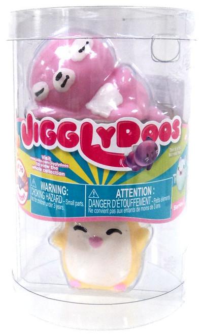 JigglyDoos Series 3 Pink Sloth & Yellow Penguin Squeeze Toy 2-Pack