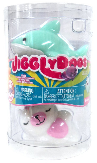 JigglyDoos Series 3 Green Shark & White Cat Squeeze Toy 2-Pack