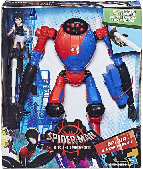 Marvel Spider-Man Into the Spider-Verse SP//DR & Peni Parker Deluxe Figure [Firing Projectile!]