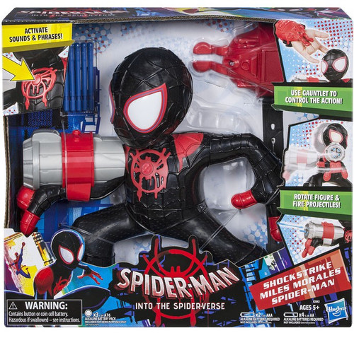 Marvel Spider-Man Into the Spider-Verse Shockstrike Miles Morales Electronic Action Figure