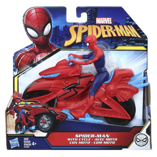 Marvel Spider-Man Into the Spider-Verse Spider-Man with Cycle Action Figure & Vehicle
