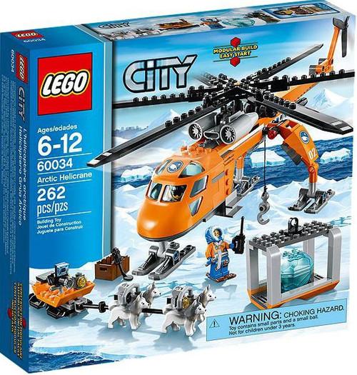 LEGO City Arctic Helicrane Set #60034 [Damaged Package]
