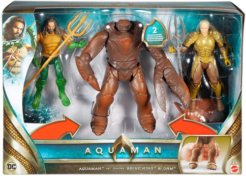 DC Aquaman Movie Aquaman vs. Brine King & Orm Action Figure 3-Pack