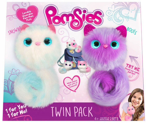 Pomsies Snowball & Boots Exclusive Plush Toy 2-Pack