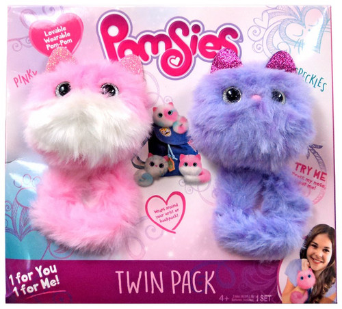 Pomsies Pinky & Speckles Exclusive Plush Toy 2-Pack