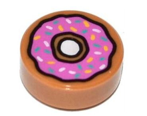LEGO Doughnut with Dark Pink Frosting and Sprinkles [Loose]