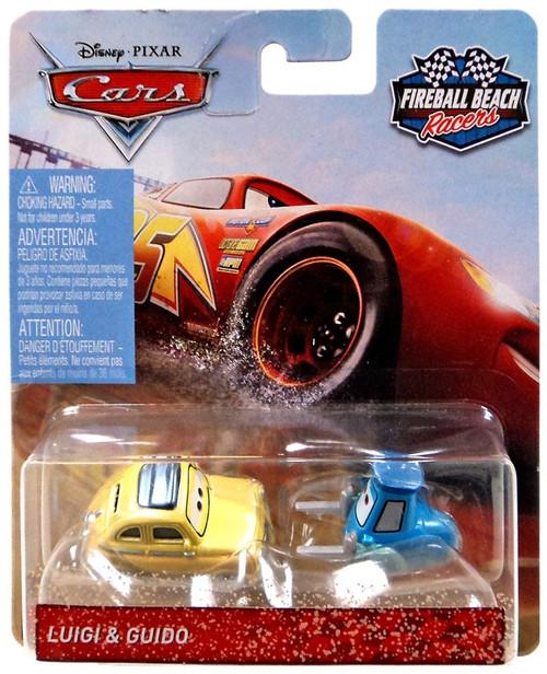 Disney / Pixar Cars Cars 3 Fireball Beach Racers Luigi & Guido Diecast Car 2-Pack