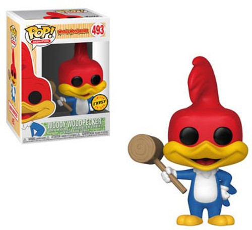 Funko POP! Animation Woody Woodpecker Vinyl Figure #493 [with Mallet, Chase Version]