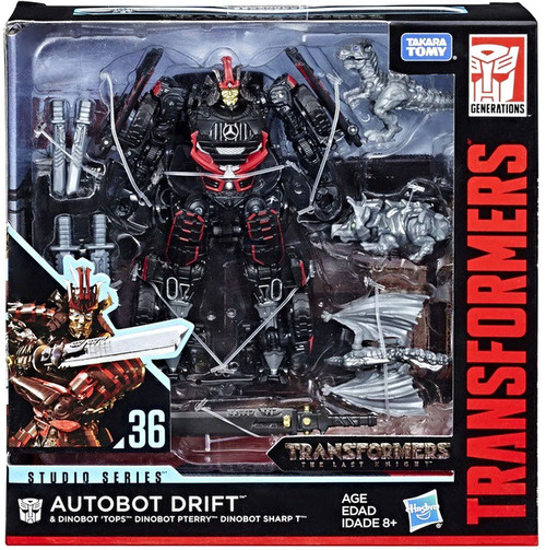 Transformers Generations Studio Series Drift with Baby Dinobots Sharp-T, Pterry & Tops Deluxe Action Figure #36