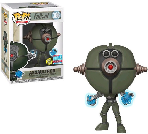 Funko Fallout POP! Games Assaultron Exclusive Vinyl Figure #386 [Glows in the Dark]