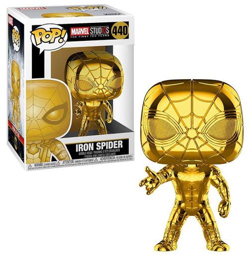 Funko Marvel Studios 10 POP! Marvel Iron Spider Vinyl Bobble Head #440 [Gold Chrome]